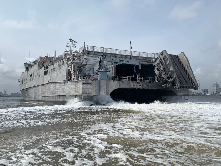 USNS Carson City Departs Nigeria