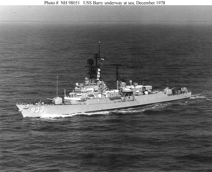 USS Barry 1978 NH 98051