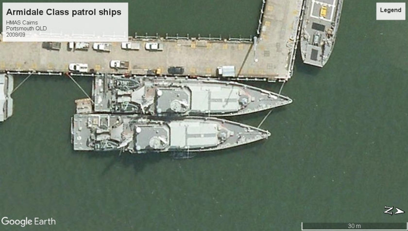 Armidale class patrol boats Cairns 2008