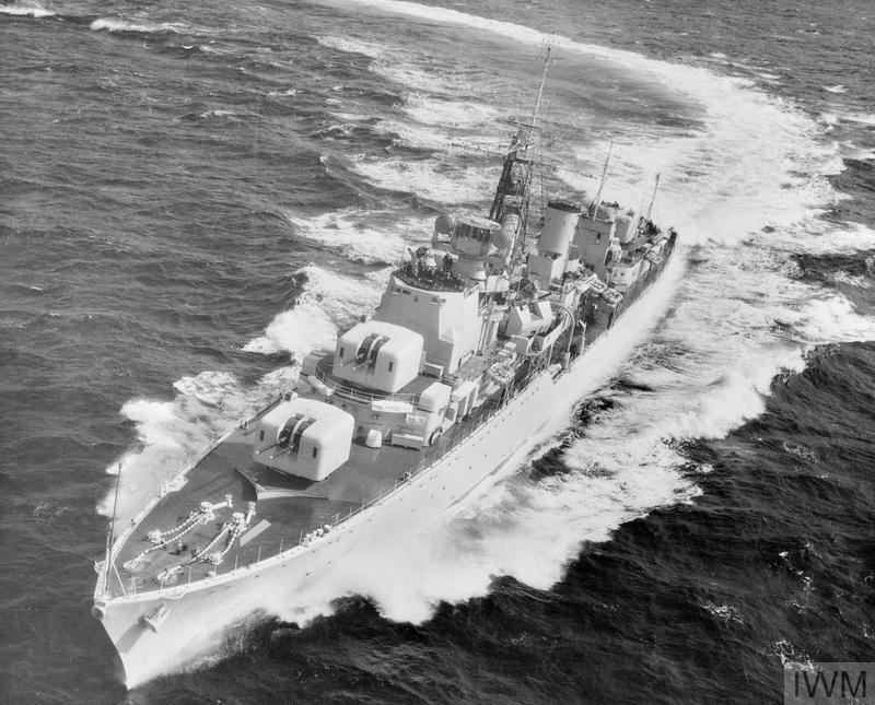 HMS Daring Med 1953
