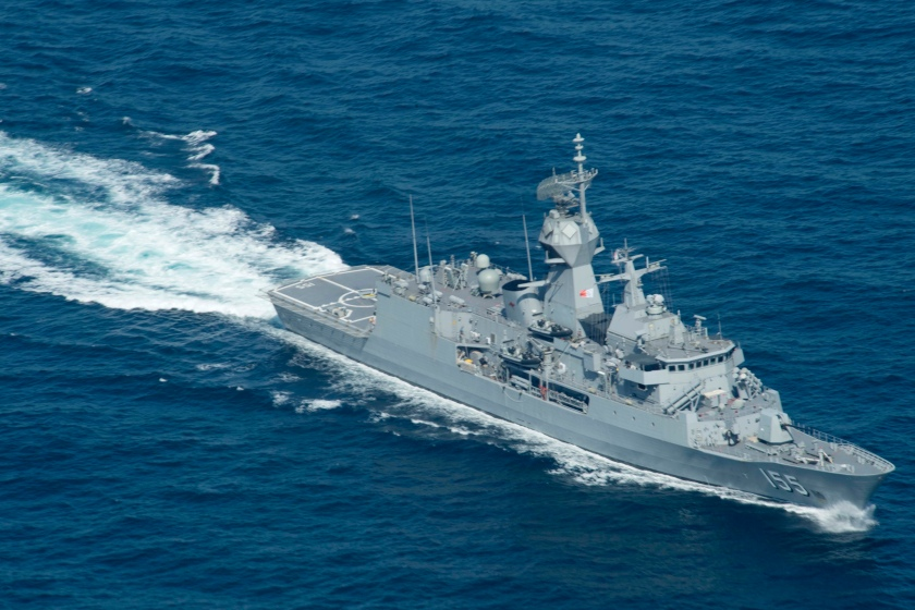 USS Spruance (DDG) 111 during the anti-submarine warfare exercise SHAREM 195