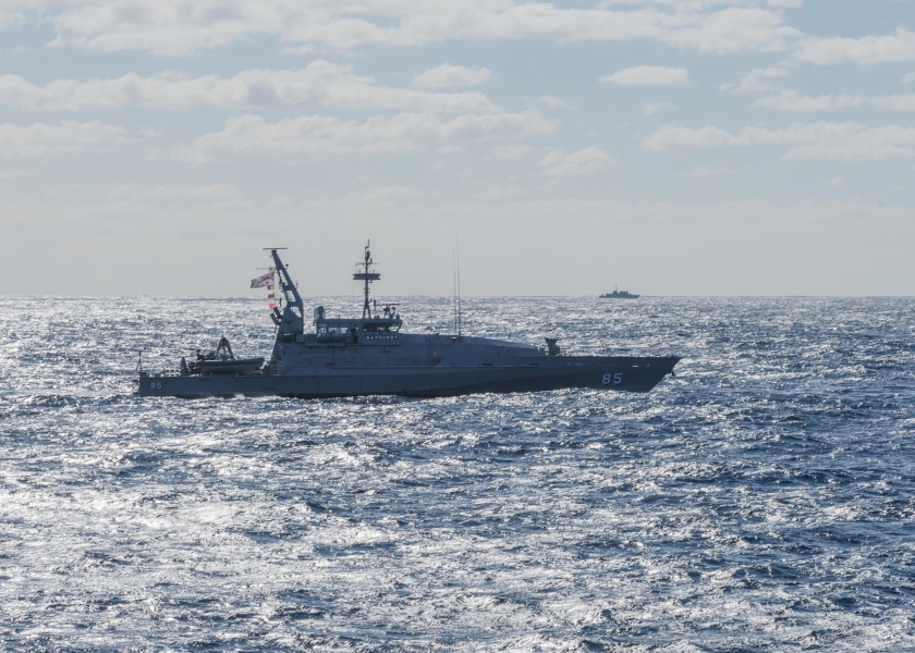 U.S., Australian and New Zealand Navy 19-ship formation for Talisman Saber 2017