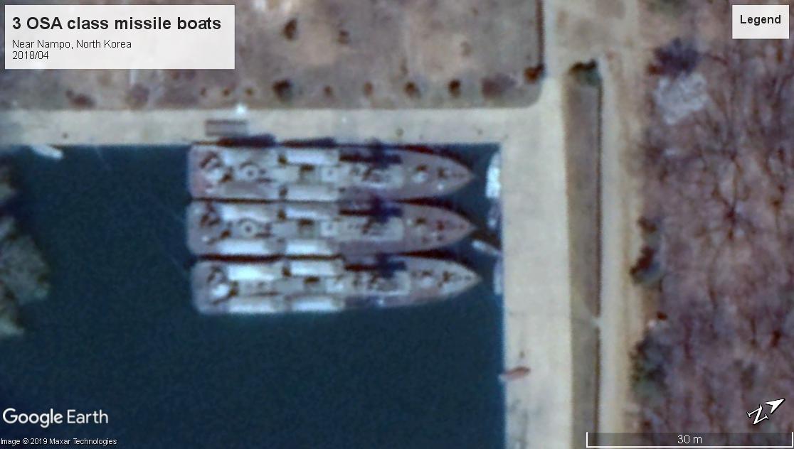 Osa Class missile boats Nampo NK 2018