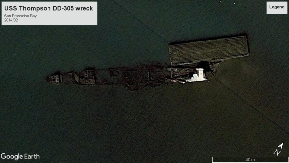 USS Thompson wreck san francisco 2014