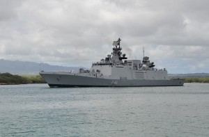 Indian Navy Shivalik-Class Stealth Frigate INS Satpura (F48) Departs Joint Base Pearl Harbor-Hickam Following the Conclusion of RIMPAC 2016