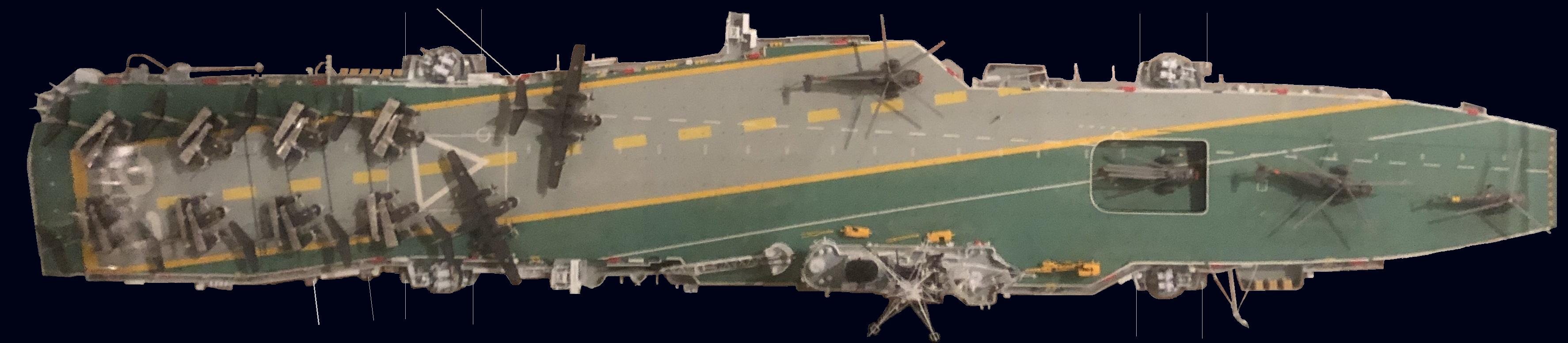 HMCS Bonaventure model CASMworkFINALBluewithaerials