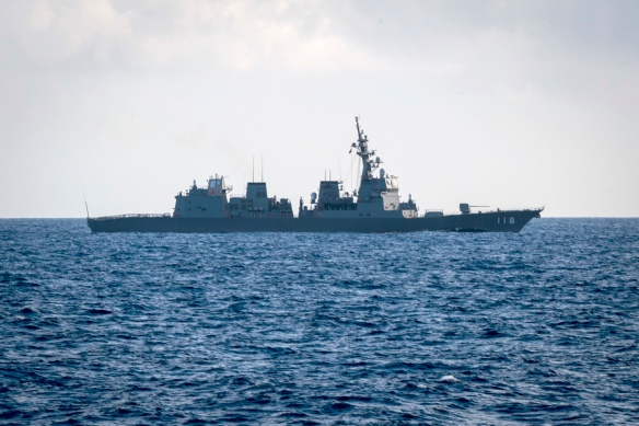 U.S. Navy, JMSDF, and Indian Navy complete Malabar 2018
