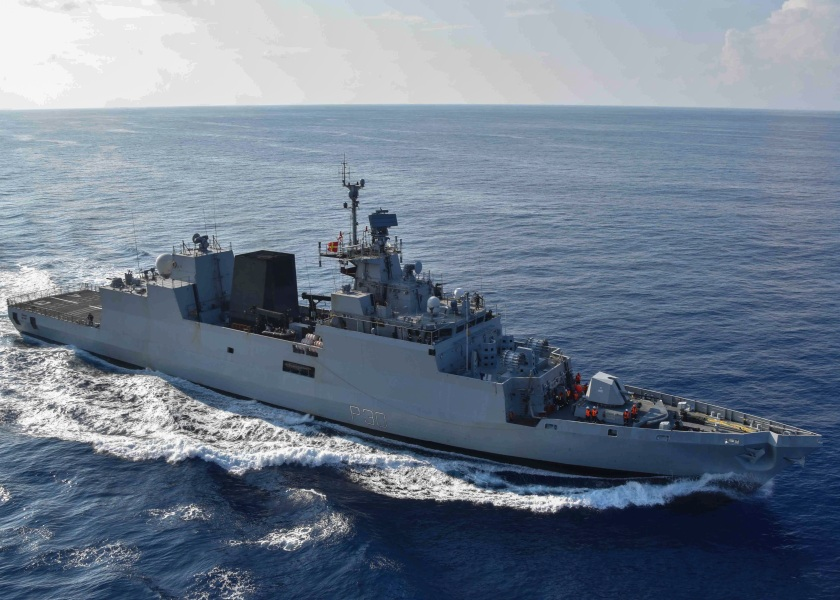 India and US Conduct Replenishment at Sea