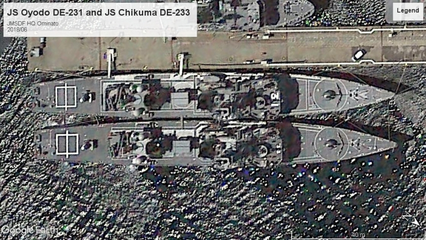 JS Oyodo DE-231 and JS Chikuma DE-233 ominato 2018.jpg