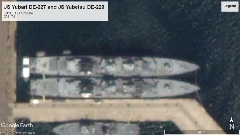 JS Yubari DE-227 and JS Yubetsu DE-228 ominato 2011