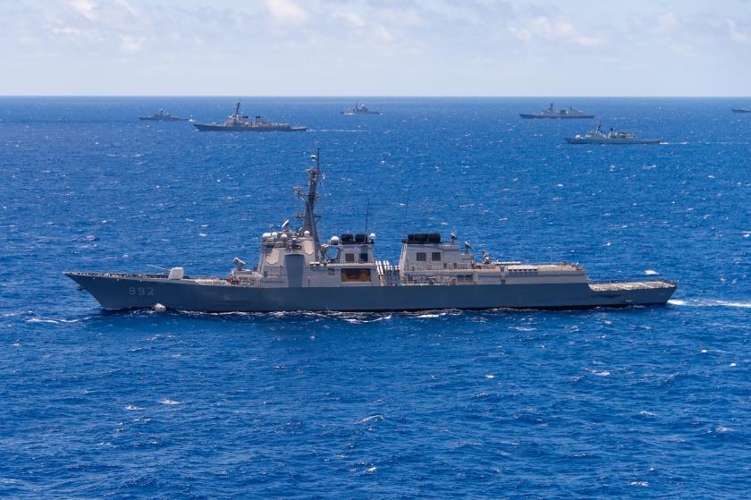 Yulgok Yi sails with partner nations during RIMPAC