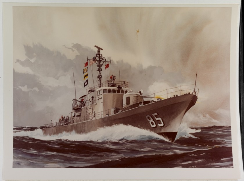 USS Gallup art NH 85570-KN