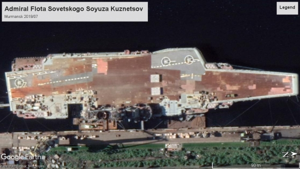 Admiral Kuznetsov carrier 2019 Murmansk