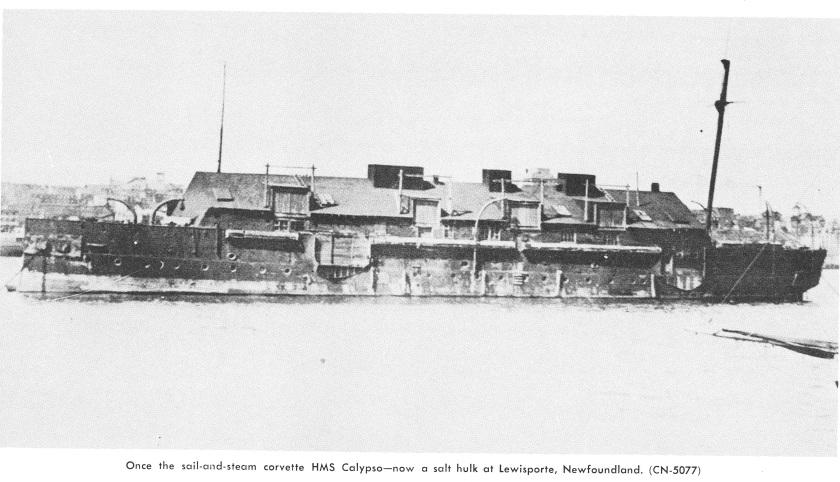 HMS Calypso hulk Lewisporte NFLD