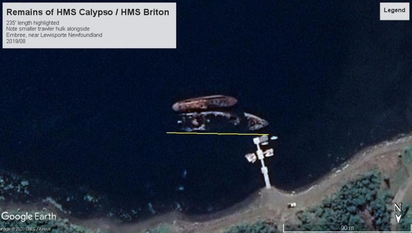 HMS Calypso wreck NFLD 2019