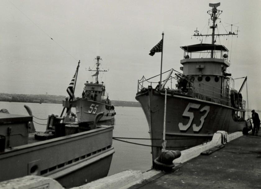 USS AMC minesweepers HF 1950 HFX-12666