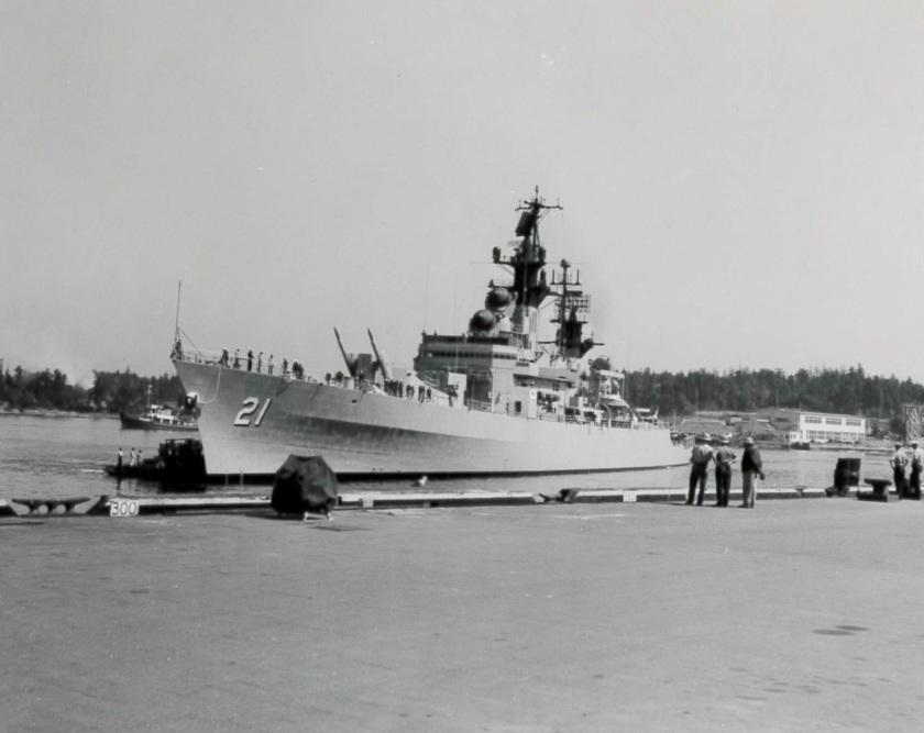 USS Gridley E-73141 1963 Esquimalt