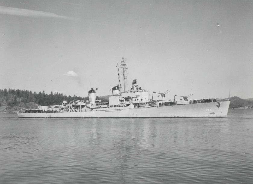 USS John W. Thomason ESQ E-7220-1 1947