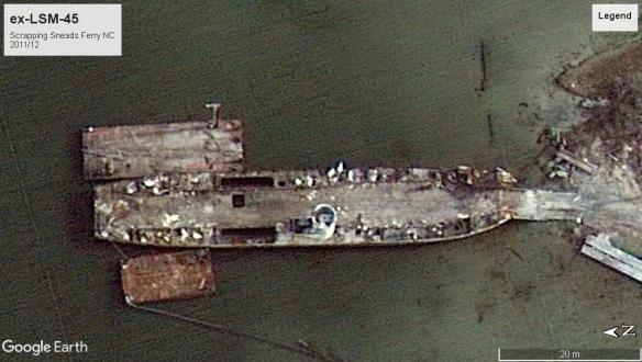 USS LSM-45 Sneads Ferry NC 2011