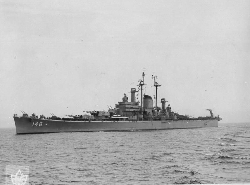 USS Newport News HFX HS-15365 1951