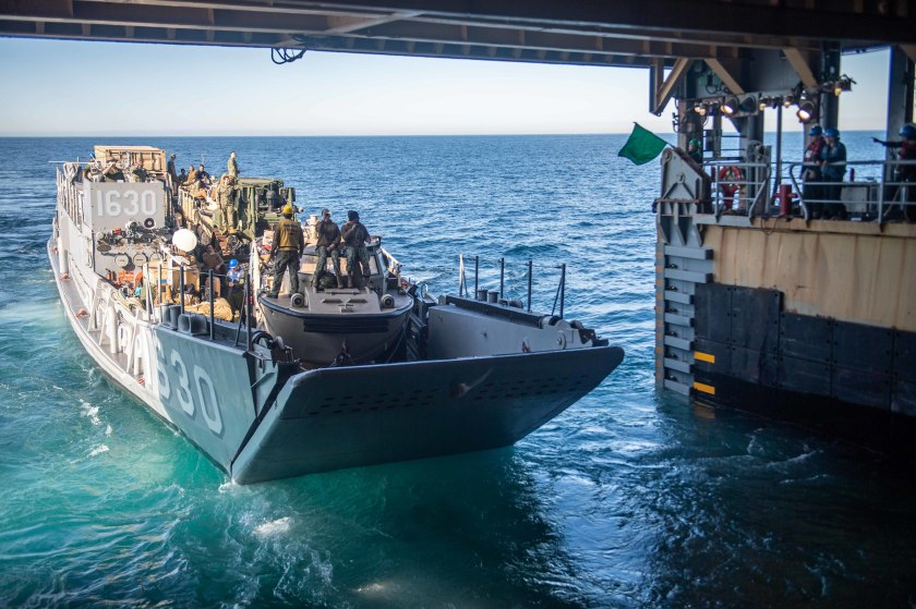 USS Harpers Ferry Conducts Well Deck Operations