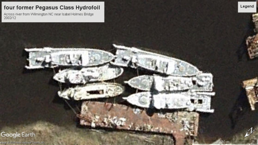Pegasus class hydrofoils retired Wilmington 2002