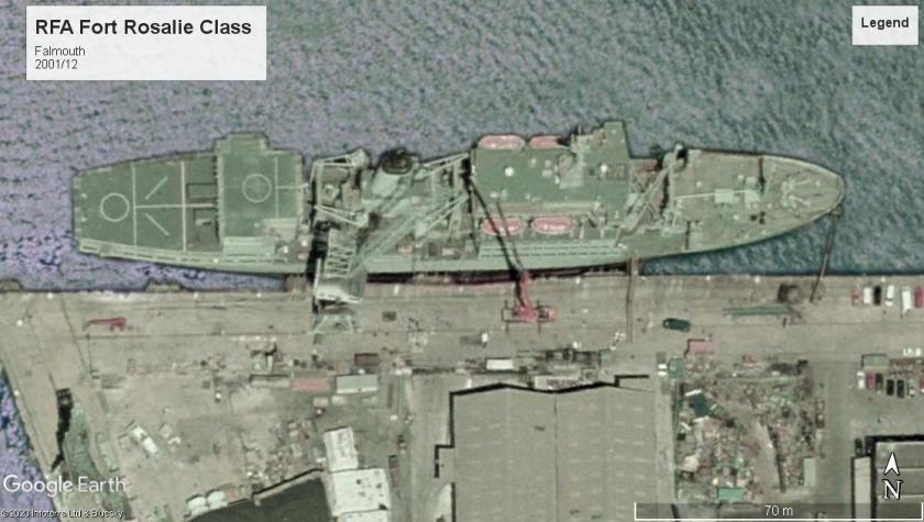 RFA Fort Rosalie class falmouth 2001