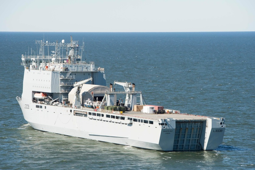 EODMU 2 leads MCM task group experiment aboard RFA Mounts Bay