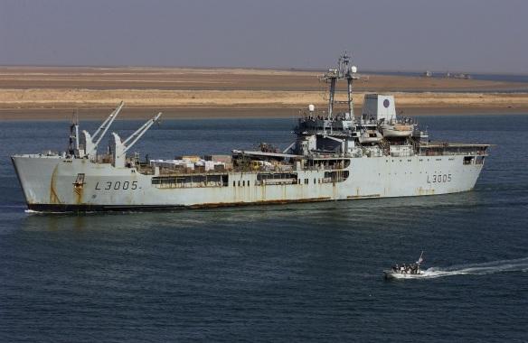 Coast Guard Port Security patrol boat escorts the Sir Galahad