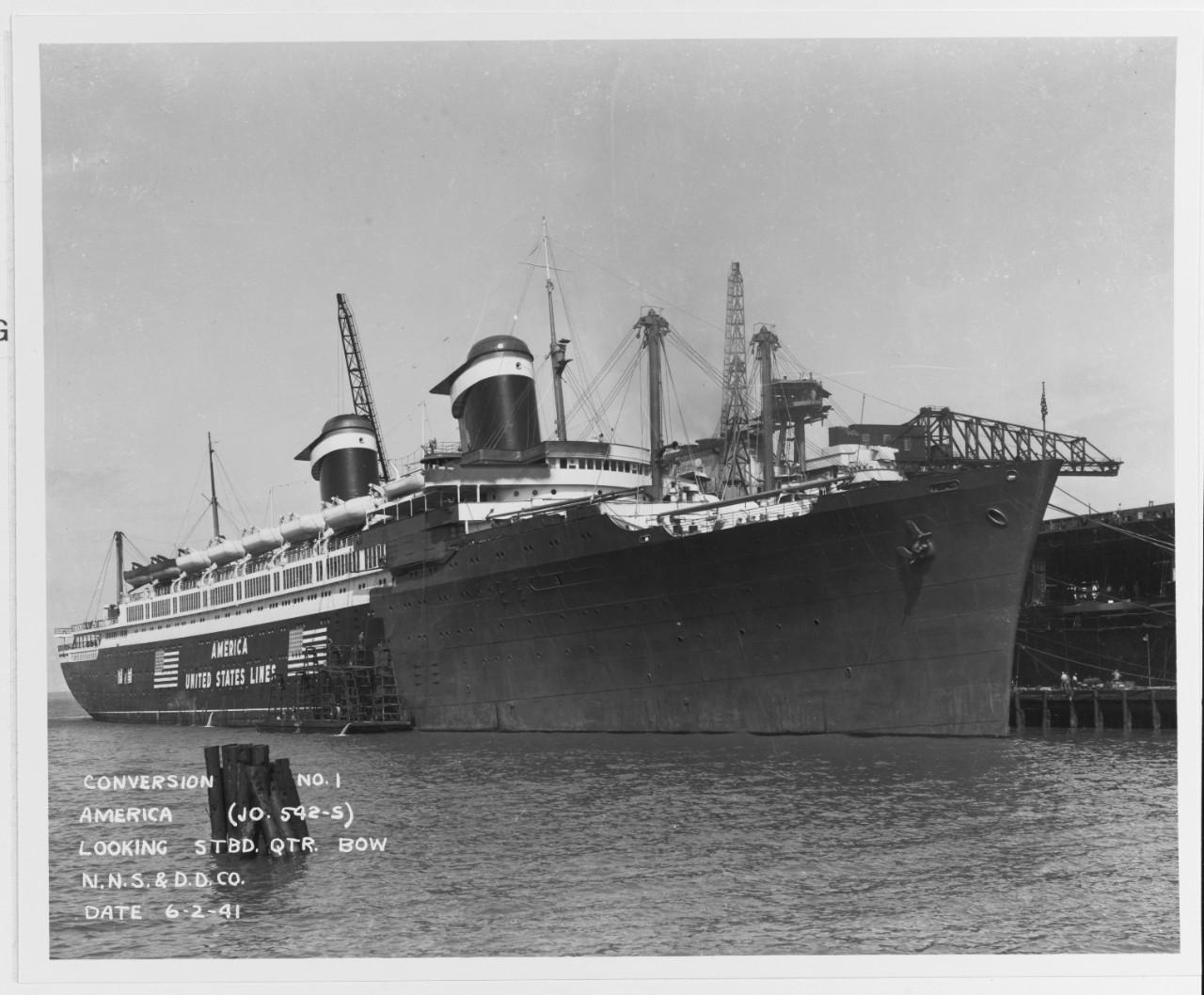 SS America NHHC 19-N-24561