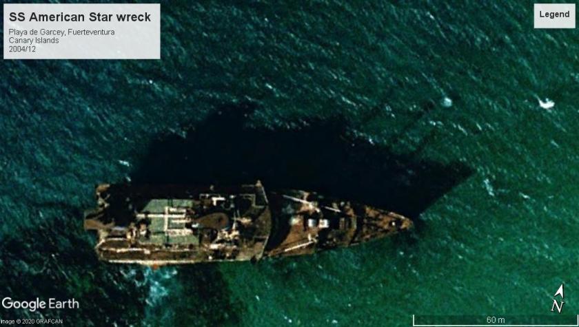SS American Star wreck Fuerteventura 2004