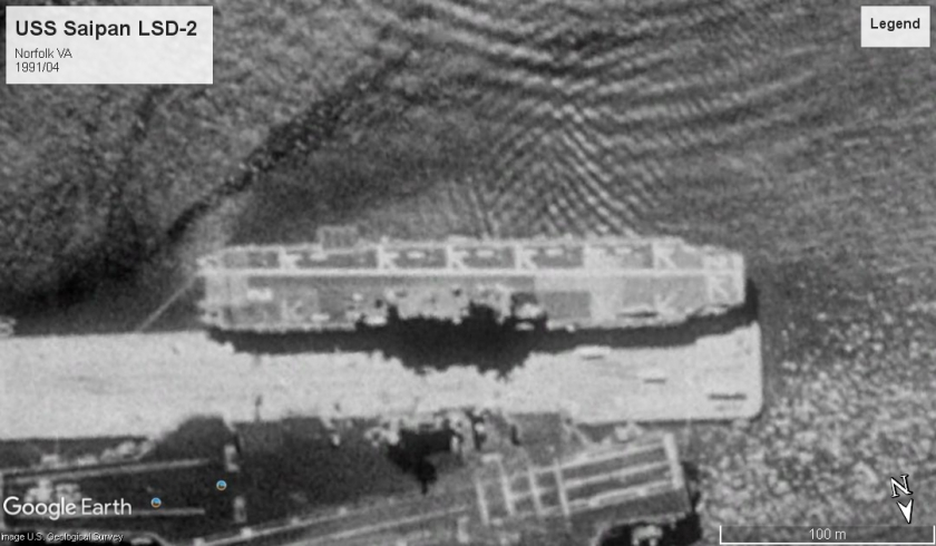 USS Saipan Norfolk 1991