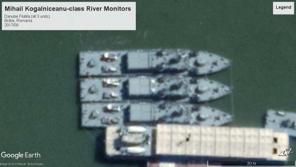 Mihail Kogalniceanu class river monitors Danube2017