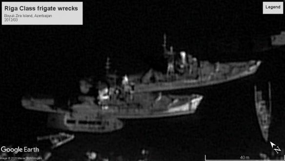 Riga class wreck Boyuk Zira Island, Azerbaijan 2012