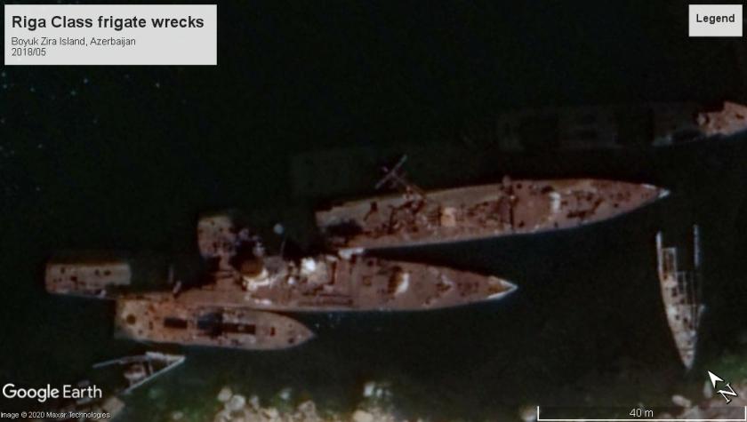 Riga class wreck Boyuk Zira Island, Azerbaijan 2018