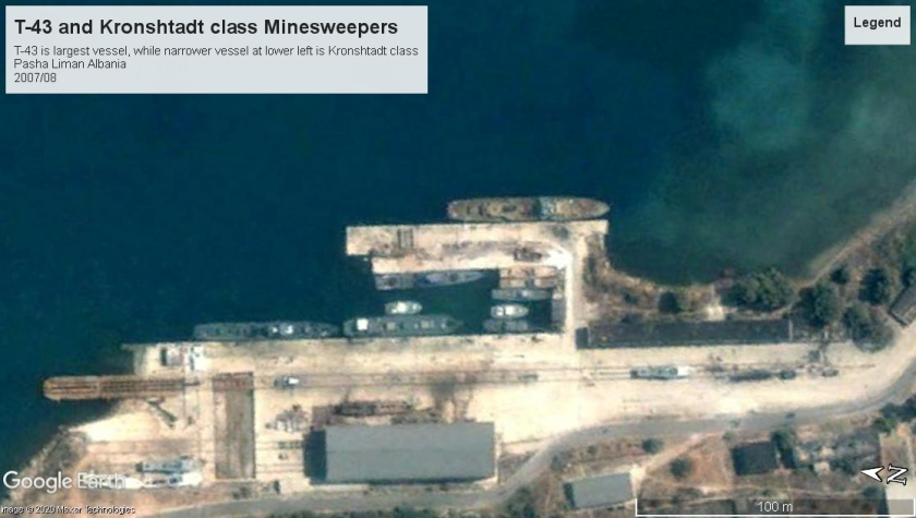 Soviet Minesweepers T-43 and Kronshtadt Albania 2007