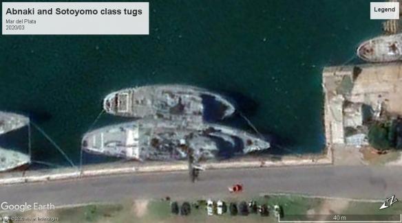 abnaki class and sotoyomo tugs Mer del Plata 2020