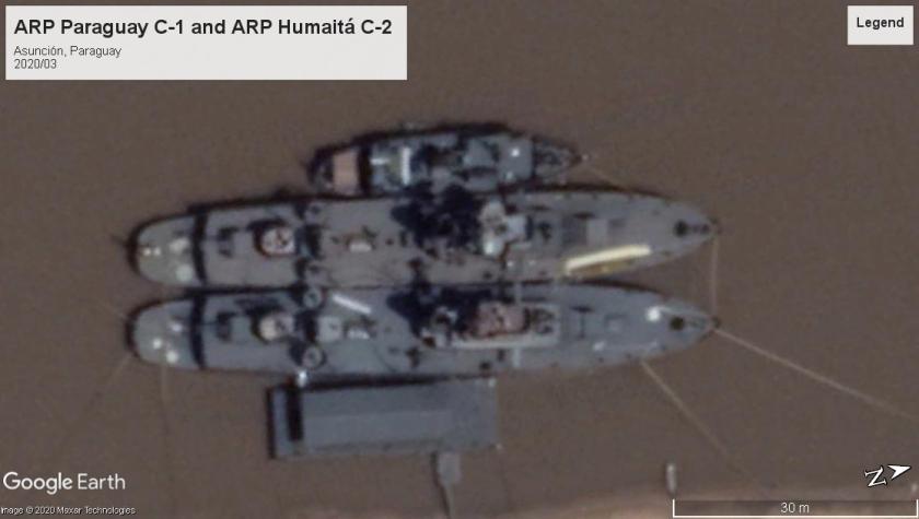 ARP Humaita gunboats, Paraguay 2020