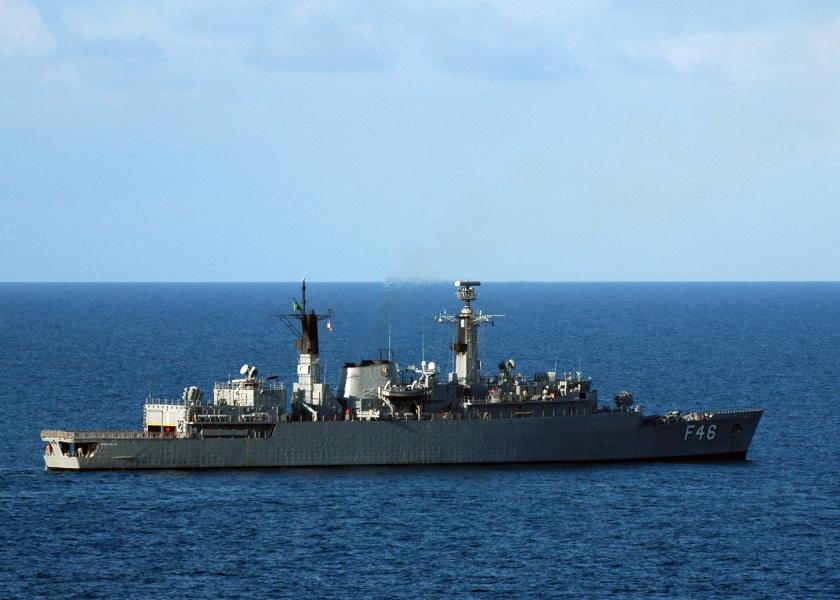 Brazilian navy ship Greenhalgh in the Atlantic