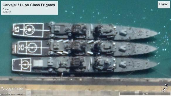 Carvajal or lupo frigates Callao 2018