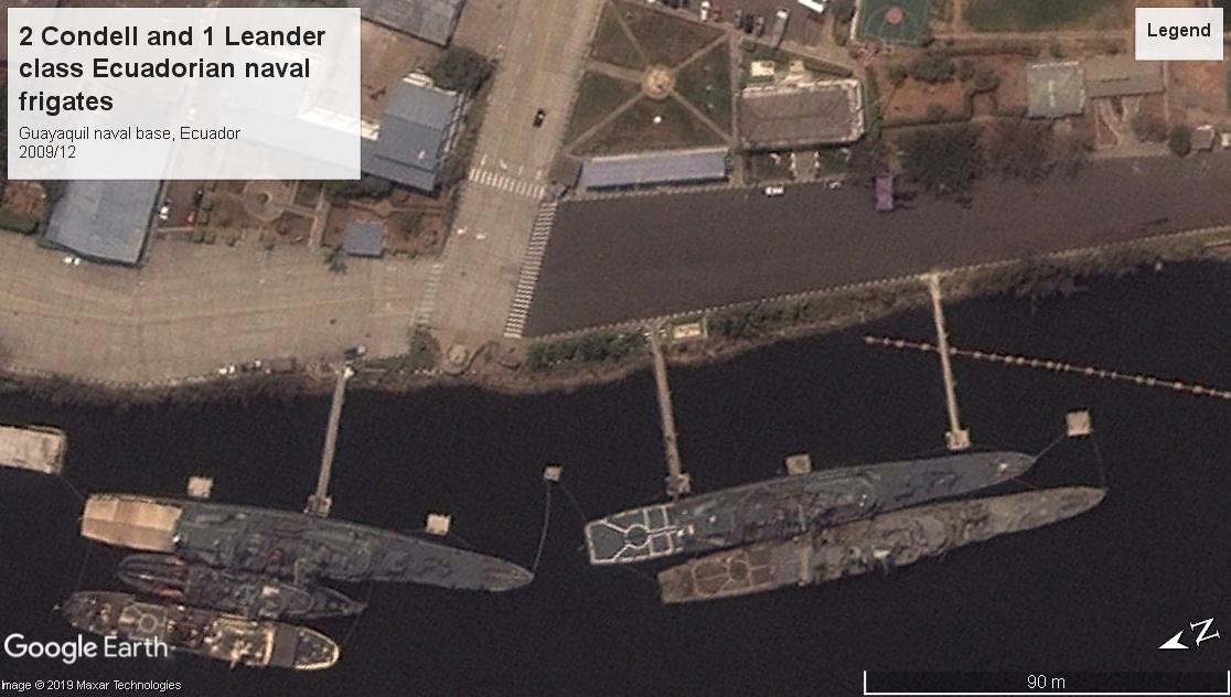 condell and leander class frigates ecuador 2009