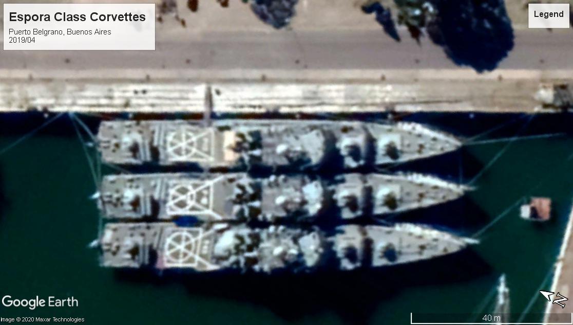 Espora corvettes Puerto Belgrano 2019