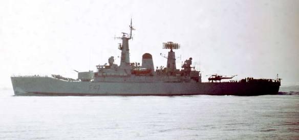 HMS_Danae_Mediterranean_Jan1970