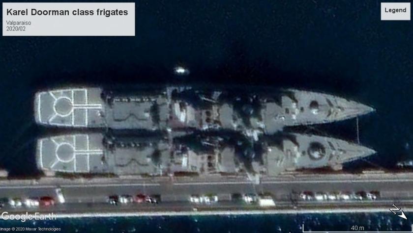 Karel Doorman frigates Valparaiso 2020