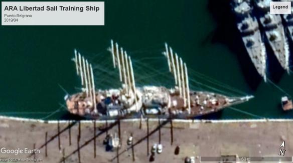 Libertad Sail training ship Puerto Belgrano 2019