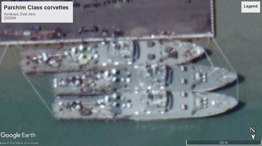 Parchim class corvettes Surabaya 2020