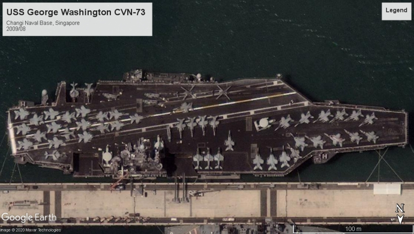 USS George Washington CVN-73 Changi sing 2009