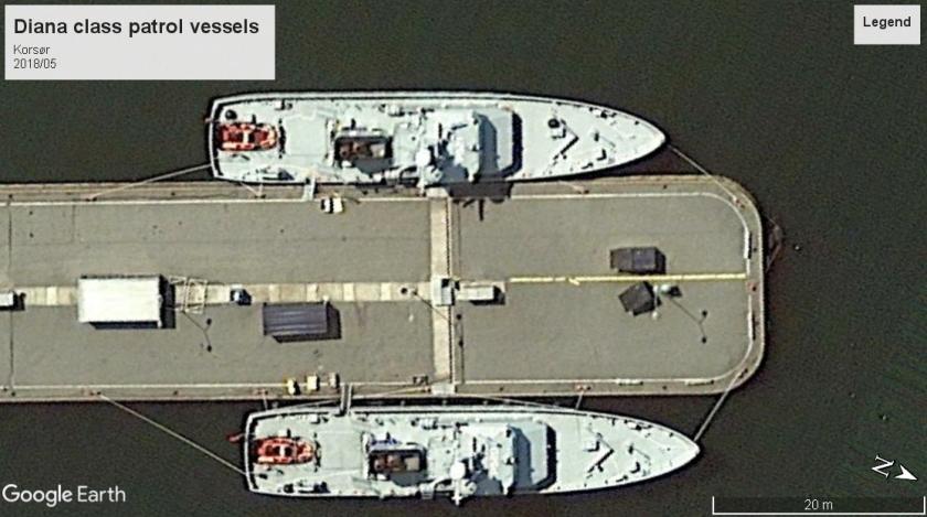 Diana-class patrol vessels Korsor 2018