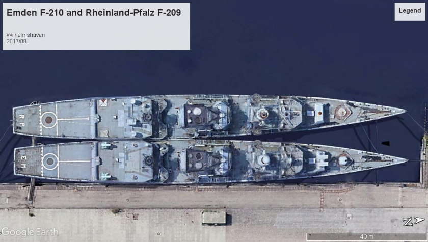 Emden F-210 and Rheinland-Pfalz Wilhelmshaven 2017