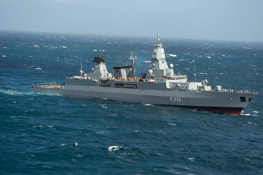 German navy frigate FGS Hamburg
